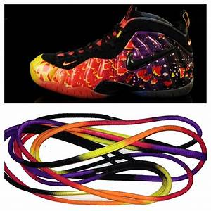 Custom Sneaker Laces for the Asteroid Area 72 Foamposite ...