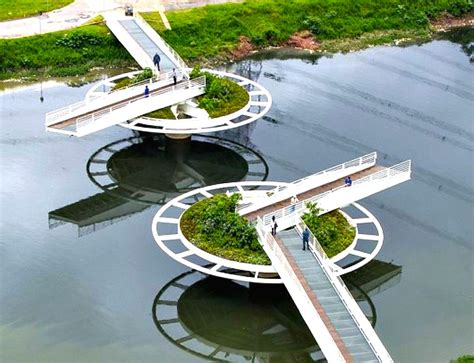Lily Pads For Boats by Lush Green Lilypad Bridge Spins Open To Accomodate Boat