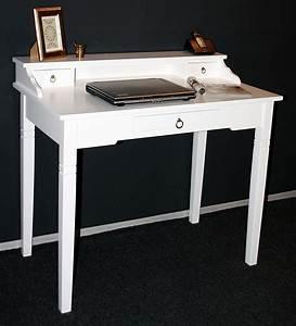 Sekretär Weiß Modern : massivholz sekret r konsolentisch schreibtisch holz massiv wei ~ Indierocktalk.com Haus und Dekorationen