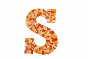 mosaic wall letter With mosaic letter tiles
