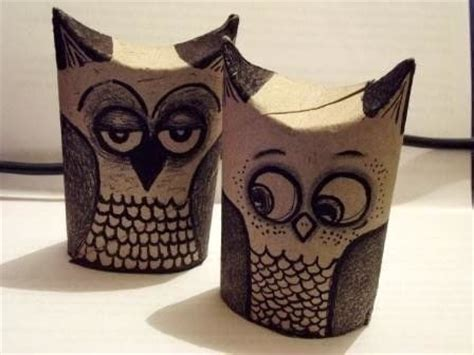 toilet paper roll owls  paper roll model drawing
