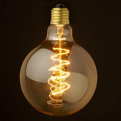 in light globes vintage edison spherical spiral filament bulb 125mm