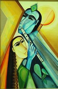 Radha Krishna by artist Shuchi Khanna acrylic Paintings