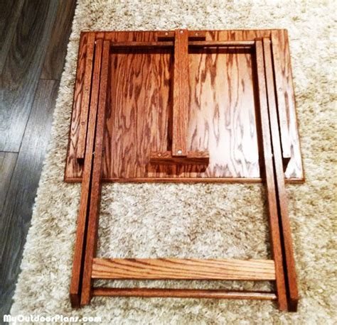 diy folding tv tray myoutdoorplans  woodworking