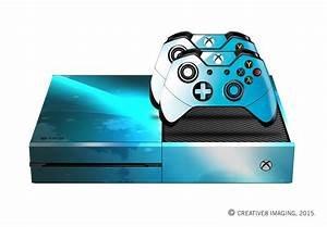 E-SKINS Xbox One gaming console skin Blue light Streak and ...