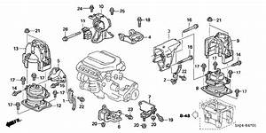 Honda Odyssey 5 Door Exl  Res  Ka 5at Engine Mounts Throughout 2006 Honda Odyssey Engine Diagram