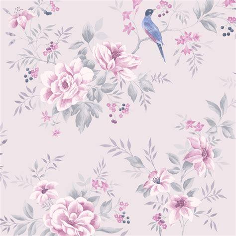 colours liora purple birds  floral trail glitter effect