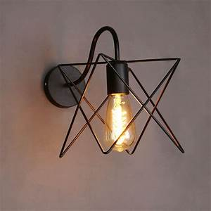 Lampe Murale Industrielle : trouver plus lampes murales informations sur vintage loft fer cage mur lampe industrielle murale ~ Teatrodelosmanantiales.com Idées de Décoration