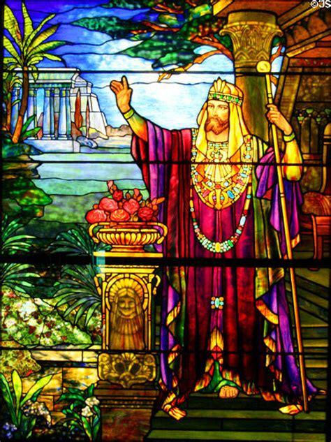 stained glass window  king solomon  tiffany studios