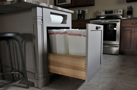 inside cabinet trash can modern kitchen trash can ideas for good waste management