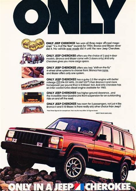 jeep cherokee  classic vintage advertisement