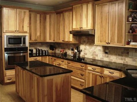 the cabinets and countertops on