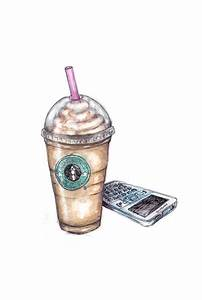 watercolor art illustration starbucks birght soft drawing ...