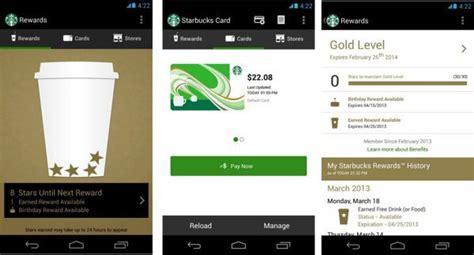 starbucks app for android starbucks app needs 2014 android update phonesreviews uk