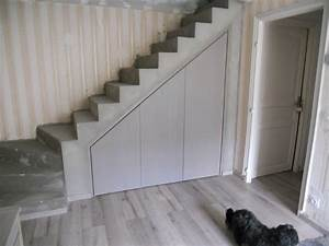 placard sous escalier brodie agencement With porte placard sous escalier