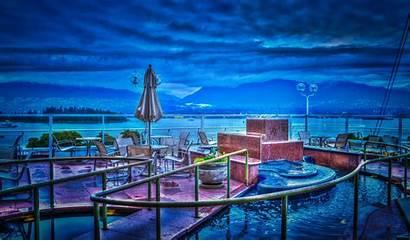 Hotel Vancouver Water Ocean Dock Night Sky
