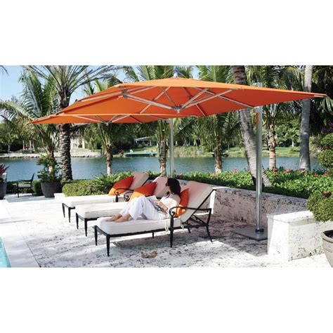 outdoor orange large cantilever umbrella for your patio