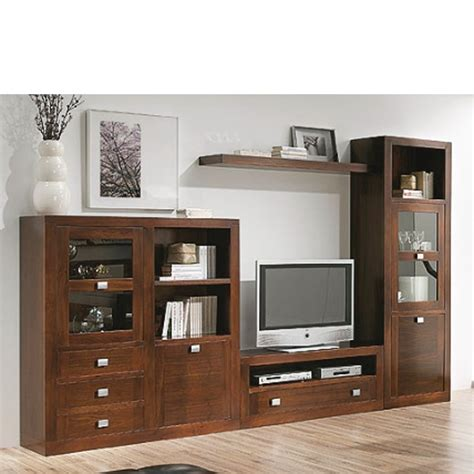 muebles  salon comedor madera nogal tudecoracom