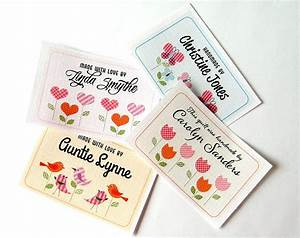 large scale custom fabric labels for quilts blankets and With custom fabric sew in labels