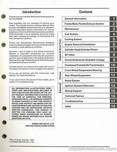 Used 1992 Honda Cr250r Motorcycle Service Manual