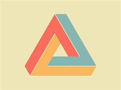 Triangle Penrose Impossible Illusion Pixel Optical Shapes