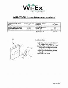 Yx022 Cel Signal Antenna Instructions 20070316