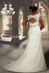 Robe de mariee sirene a bretelles sans manche en dentelle for Robe de mariée dentelle dos