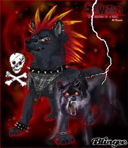 cool punk wolf Picture #126490708 | Blingee.com