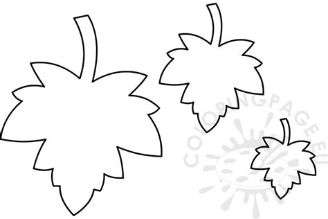 maple leaves template coloring page