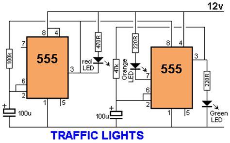 lu lalu lintas sederhana menggunakan ic 555 skema elektro ku