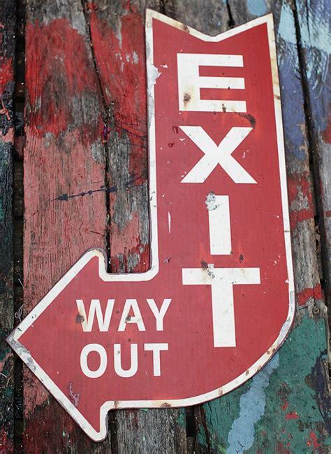 decorative exit arrow sign exit sign wall decor antique