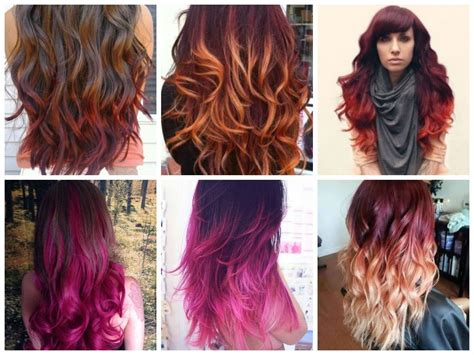 Plum Hair Color With Copper Ombre