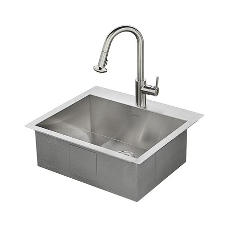 faucet placement for kitchen sink shop american standard memphis 25 in x 22 in single basin