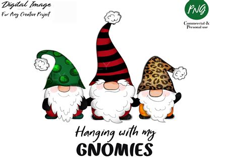 The downloaded file will be watermark free. Gnome Christmas Sublimation Clip Art (Graphic) by ...