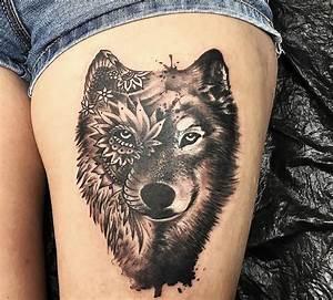 Tatouage Loup Geometrique : les 25 meilleures id es de la cat gorie tatouage tete de ~ Melissatoandfro.com Idées de Décoration