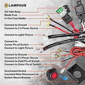 Lamphus 13 U0026 39  Off Road Atv  Jeep Led Light Bar Wiring Harness