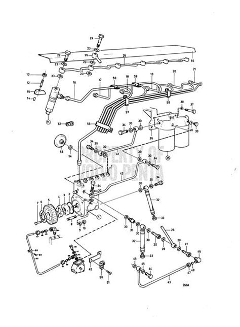 volvo penta exploded view schematic fuel system tamdc