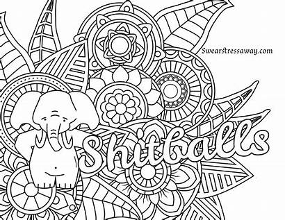 Coloring Curse Words Pages Printable Adult Getcolorings