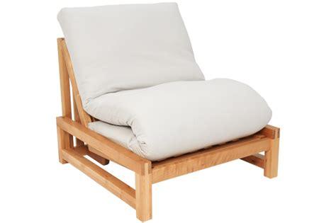 Single Seater Birch Wood Sofa Bed  Futon Company