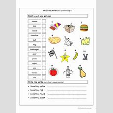Vocabulary Matching Worksheet  Elementary 16 Worksheet  Free Esl Printable Worksheets Made By