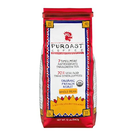 Java with lower acidity compared to normal roasts. Puroast Coffee Whole Bean Organic French Roast, 12.0 OZ - Walmart.com - Walmart.com