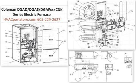 Dgadcdk Coleman Gas Furnace Parts Hvacpartstore