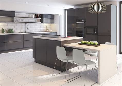 high gloss kitchen designs cut price kitchens sculptured grey gloss kitchen stylish 4217