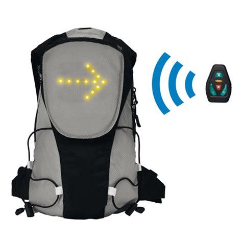 cannes cuisine sac à dos avec signalisation led pour la sécurité des