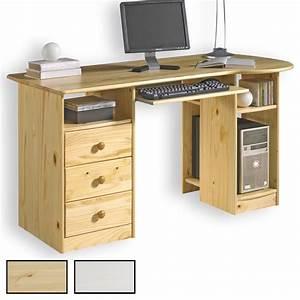 Bureau En Pin : bureau en pin bob 2 coloris disponibles mobil meubles ~ Teatrodelosmanantiales.com Idées de Décoration