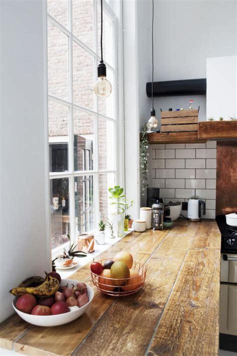 comptoir de cuisine en bois découvrez nos 84 jolies propositions pour cuisine avec bar