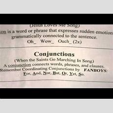 Essential Grammar Conjunction Song Classical Conversations  Youtube  Cc Cycle 2 Ideas