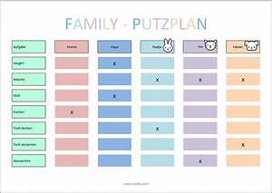 Putzplan Für Die Wohnung : putzplan vorlage f r singles paare familie wg ~ Frokenaadalensverden.com Haus und Dekorationen