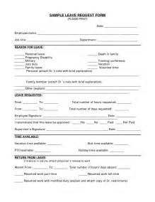Employee Vacation Request Form Template