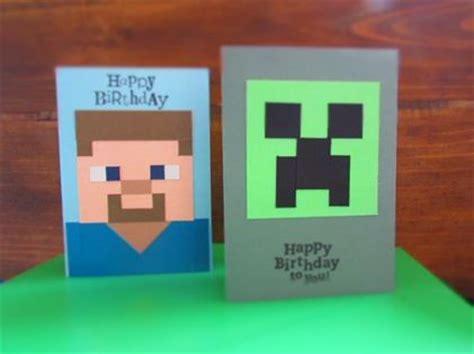 minecraft birthday cards   craft party